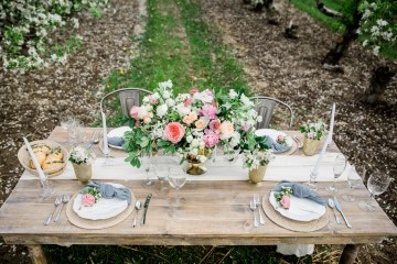 Bright and Colorful Apple Blossom Orchard Wedding Inspiration | Shanell Photography & Mitten Weddings and Events 70