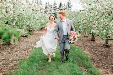 Bright and Colorful Apple Blossom Orchard Wedding Inspiration | Shanell Photography & Mitten Weddings and Events 73