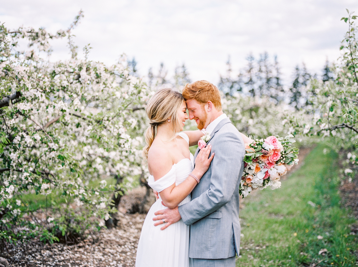 Bright and Colorful Apple Blossom Orchard Wedding Inspiration | Shanell Photography & Mitten Weddings and Events 76