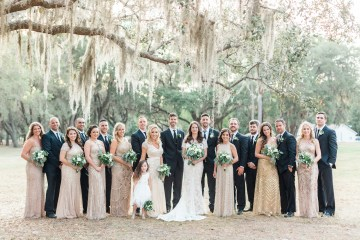Gilded Florida Farm Wedding with an Adorable Golden Pup | Lauren Galloway Photography 57