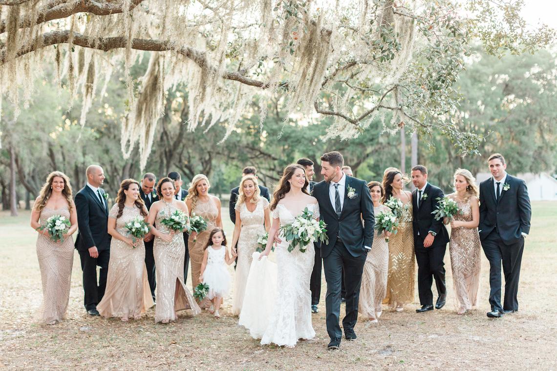 Gilded Florida Farm Wedding with an Adorable Golden Pup | Lauren Galloway Photography 58
