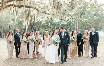 Gilded Florida Farm Wedding with an Adorable Golden Pup