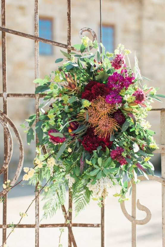 Romantic Gold, Grey and Berry Vineyard Wedding Inspiration | Jenny Quicksall & An Enlightened Event 43