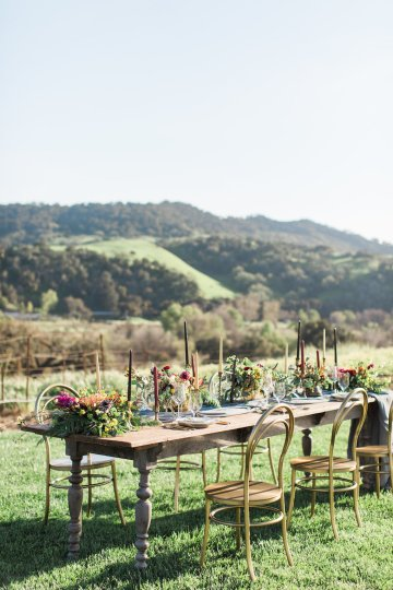 Romantic Gold, Grey and Berry Vineyard Wedding Inspiration | Jenny Quicksall & An Enlightened Event 49