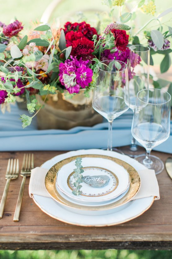 Romantic Gold, Grey and Berry Vineyard Wedding Inspiration | Jenny Quicksall & An Enlightened Event 50