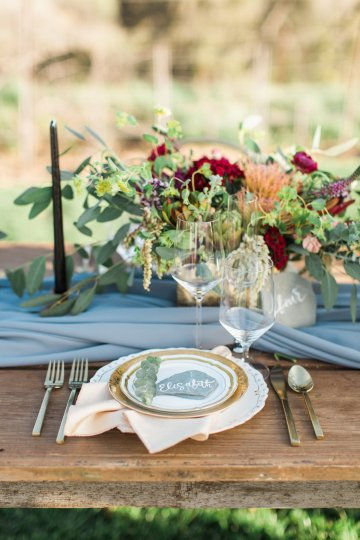 Romantic Gold, Grey and Berry Vineyard Wedding Inspiration | Jenny Quicksall & An Enlightened Event 56