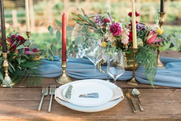 Romantic Gold, Grey and Berry Vineyard Wedding Inspiration | Jenny Quicksall & An Enlightened Event 69