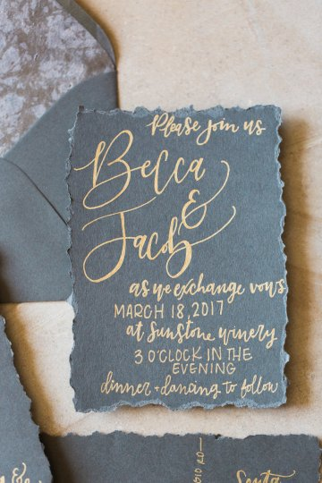 Romantic Gold, Grey and Berry Vineyard Wedding Inspiration | Jenny Quicksall & An Enlightened Event 7