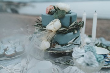 Stormy Scandinavian Wedding Inspiration Featuring a Dramatic Blue Gown | Snowflake Photo 18