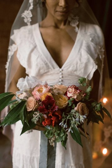 Romantic Candlelit Wedding Inspiration Full of Drama | Megan Wynn 33