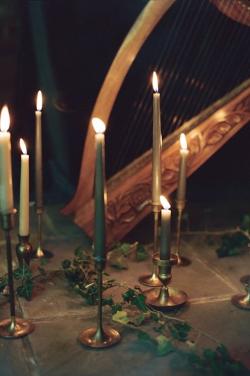Romantic Candlelit Wedding Inspiration Full of Drama | Megan Wynn 4