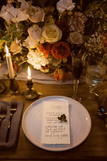 Romantic Candlelit Wedding Inspiration Full of Drama | Megan Wynn 44
