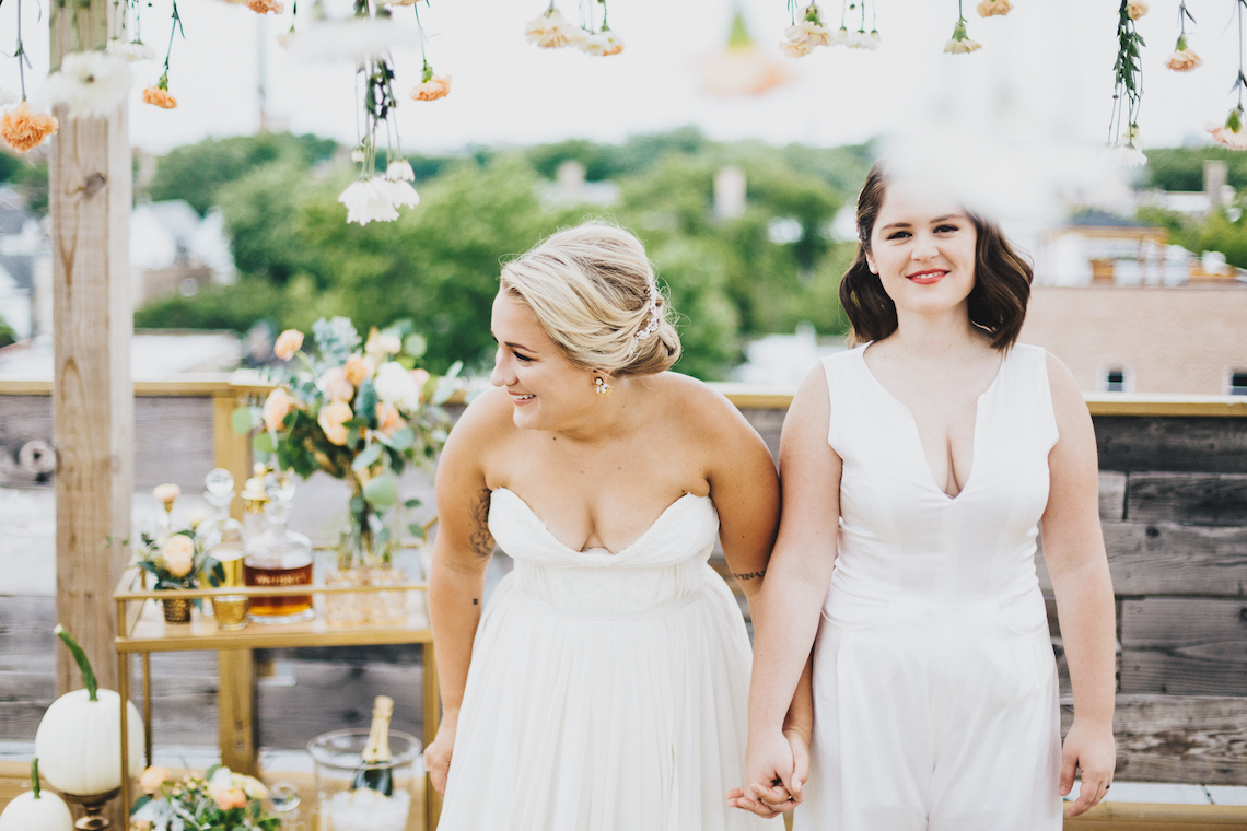 The Sweetest Autumnal Elopement Inspiration (On A Rooftop!) | Rachel Brown Kulp Photography 20