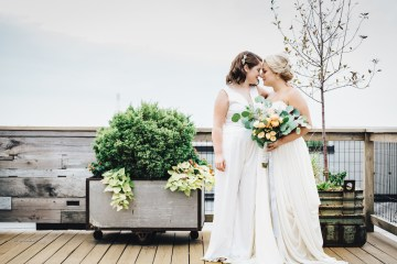 The Sweetest Autumnal Elopement Inspiration (On A Rooftop!) | Rachel Brown Kulp Photography 27
