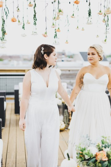 The Sweetest Autumnal Elopement Inspiration (On A Rooftop!) | Rachel Brown Kulp Photography 46