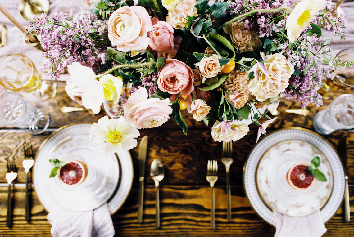 Bright & Colorful Wedding Inspiration With An Incredible Floral Dress | Rosencrown Photography 5