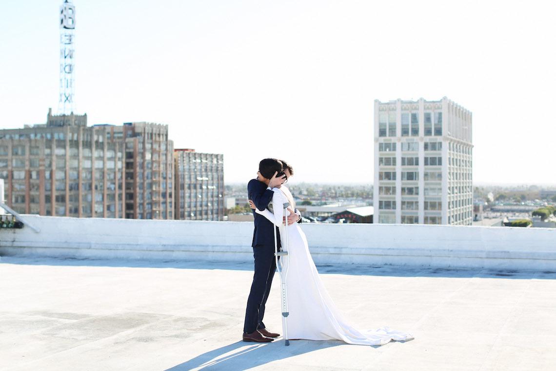 Colorful Rooftop Wedding With Geometric Modern Designs   Christian + Reinna Cruz 11