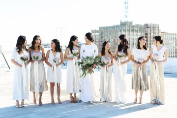 Colorful Rooftop Wedding With Geometric Modern Designs | Christian + Reinna Cruz 15