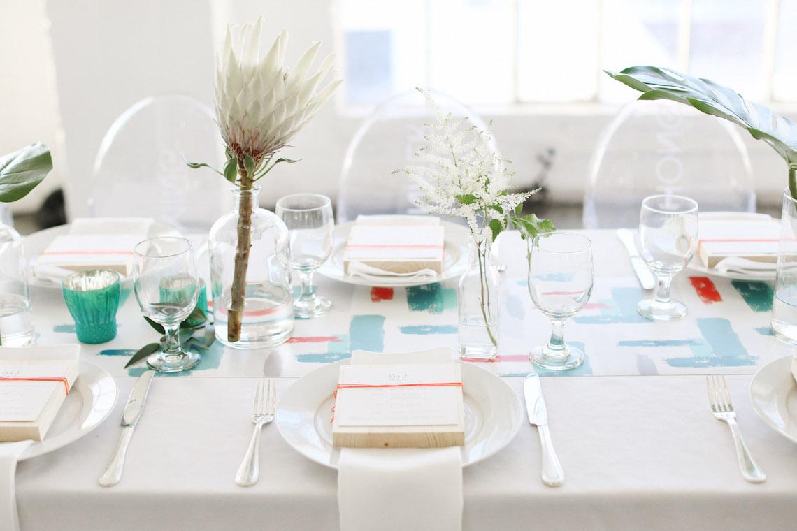 Colorful Rooftop Wedding With Geometric Modern Designs   Christian + Reinna Cruz 31