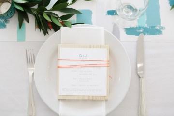 Colorful Rooftop Wedding With Geometric Modern Designs | Christian + Reinna Cruz 32