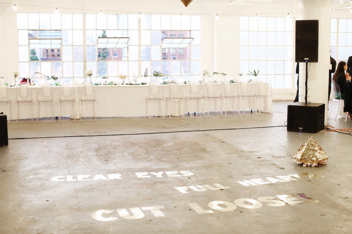Colorful Rooftop Wedding With Geometric Modern Designs   Christian + Reinna Cruz 33