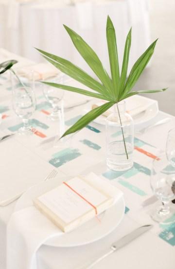 Colorful Rooftop Wedding With Geometric Modern Designs | Christian + Reinna Cruz 63
