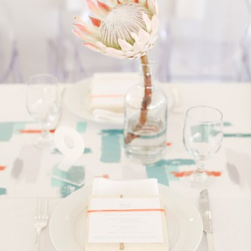 Colorful Rooftop Wedding With Geometric Modern Designs   Christian + Reinna Cruz 67