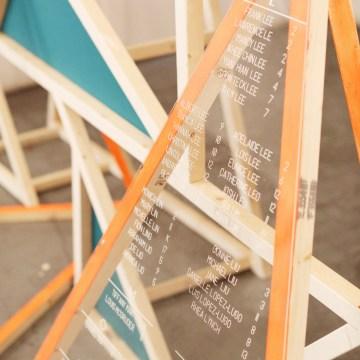 Colorful Rooftop Wedding With Geometric Modern Designs   Christian + Reinna Cruz 68