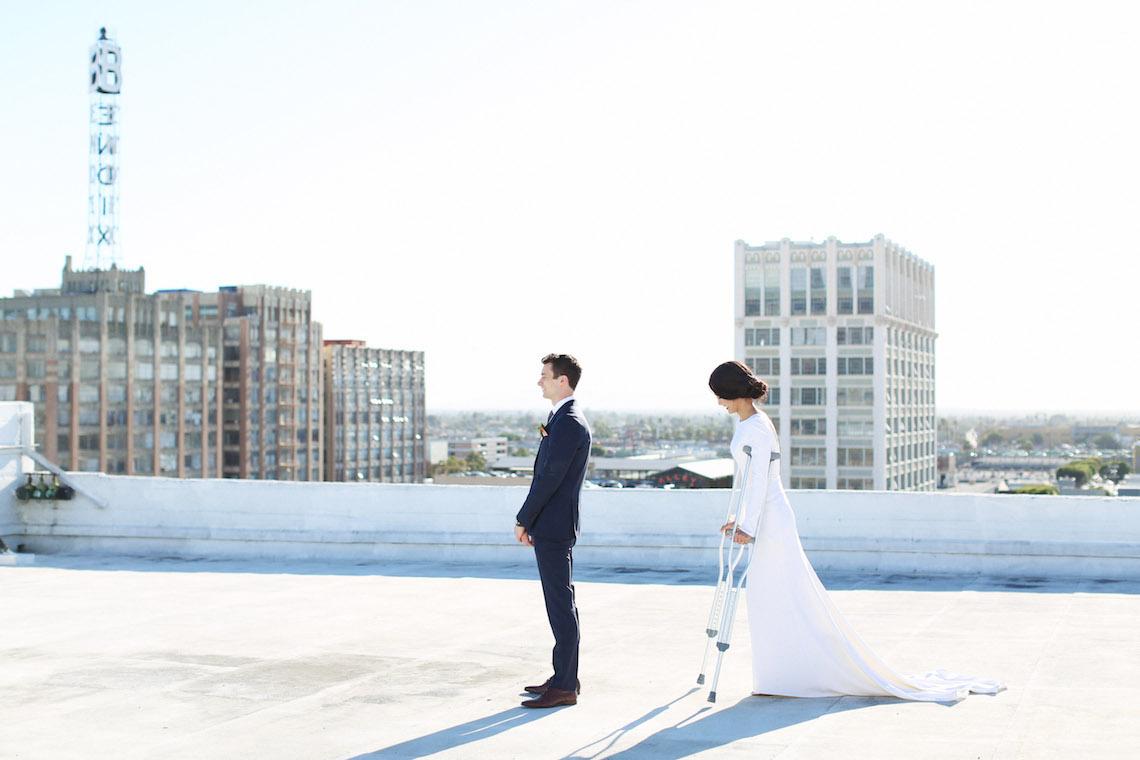 Colorful Rooftop Wedding With Geometric Modern Designs | Christian + Reinna Cruz 8