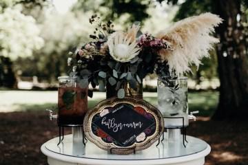 Cool Pampas Grass Wedding With Deep Berry Tones | Cedarwood Weddings 1