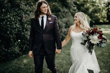 Cool Pampas Grass Wedding With Deep Berry Tones | Cedarwood Weddings 18