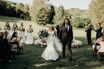Cool Pampas Grass Wedding With Deep Berry Tones | Cedarwood Weddings 23