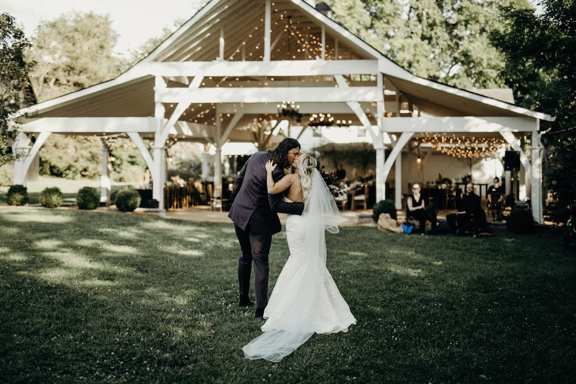 Cool Pampas Grass Wedding With Deep Berry Tones | Cedarwood Weddings 24
