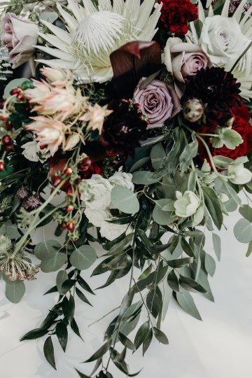 Cool Pampas Grass Wedding With Deep Berry Tones | Cedarwood Weddings 57