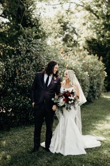 Cool Pampas Grass Wedding With Deep Berry Tones | Cedarwood Weddings 72