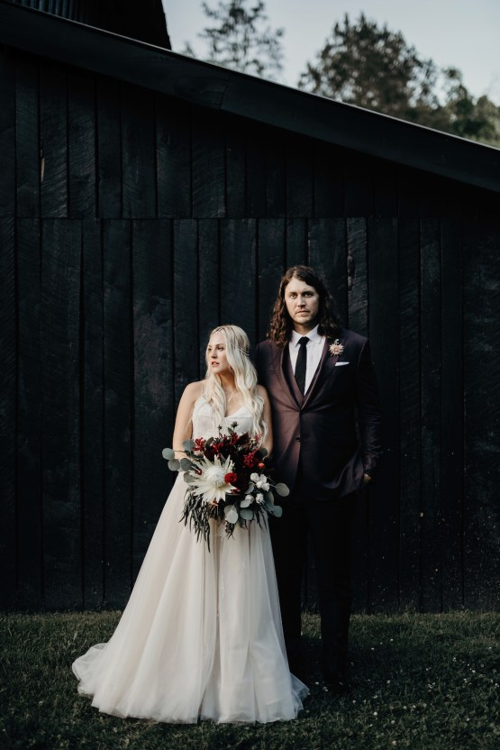Cool Pampas Grass Wedding With Deep Berry Tones | Cedarwood Weddings 82