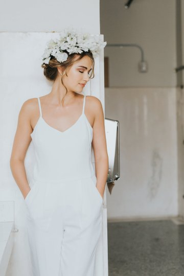 Cool Courthouse Wedding Inspiration Featuring A Bridal Jumpsuit | Rachel Birkhofer Photography 10