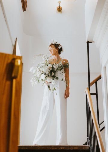 Cool Courthouse Wedding Inspiration Featuring A Bridal Jumpsuit | Rachel Birkhofer Photography 12