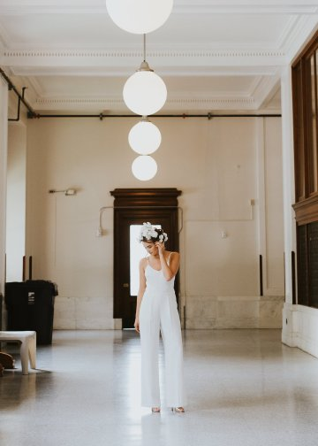 Cool Courthouse Wedding Inspiration Featuring A Bridal Jumpsuit | Rachel Birkhofer Photography 17