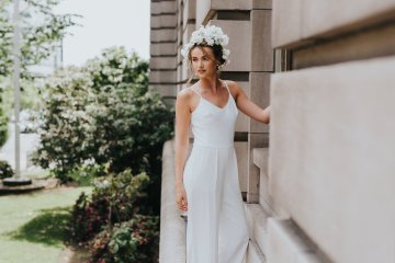 Cool Courthouse Wedding Inspiration Featuring A Bridal Jumpsuit | Rachel Birkhofer Photography 38