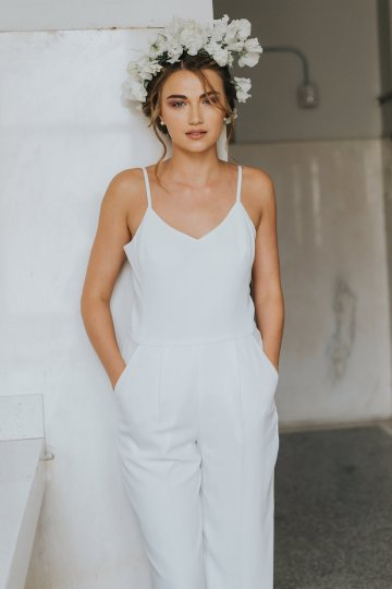 Cool Courthouse Wedding Inspiration Featuring A Bridal Jumpsuit | Rachel Birkhofer Photography 9