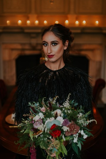 Luxurious Red & Green Wedding Inspiration Featuring A Glam Black Gown | Jamie Sia Photography 24