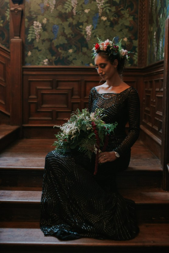 Luxurious Red & Green Wedding Inspiration Featuring A Glam Black Gown | Jamie Sia Photography 36
