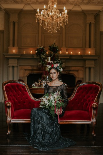 Luxurious Red & Green Wedding Inspiration Featuring A Glam Black Gown | Jamie Sia Photography 40