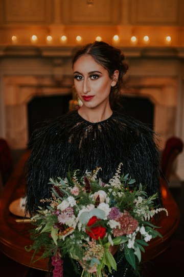 Luxurious Red & Green Wedding Inspiration Featuring A Glam Black Gown | Jamie Sia Photography 45
