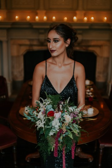 Luxurious Red & Green Wedding Inspiration Featuring A Glam Black Gown | Jamie Sia Photography 50