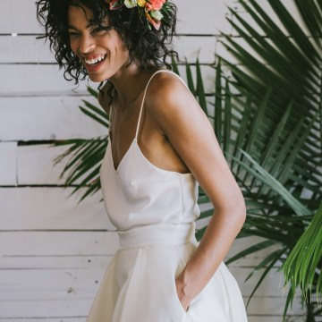 Boho Gowns & Cool Bridal Separates From The Tropical Town of Brooklyn   Loulette Bride 30