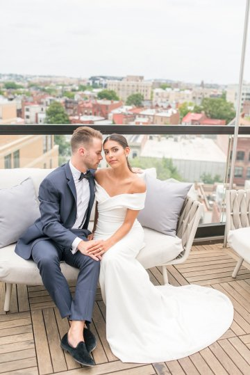 Classy Modern Rooftop Wedding Inspiration | Anna + Mateo Photography 17