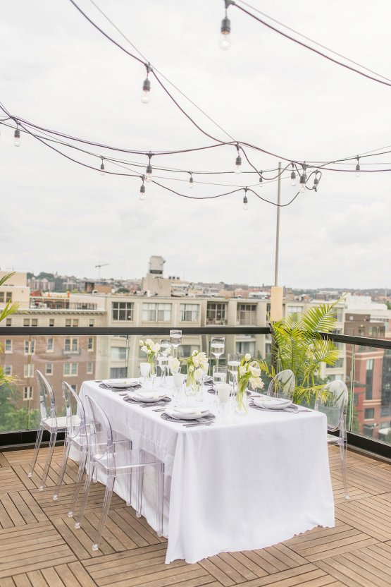 Classy Modern Rooftop Wedding Inspiration | Anna + Mateo Photography 5