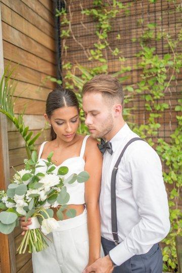 Classy Modern Rooftop Wedding Inspiration | Anna + Mateo Photography 58